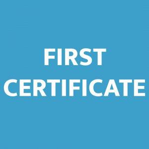 First Certificate